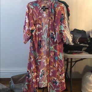 Express Colorful Kimono Medium NWT